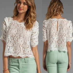 Joie boho all over lace Fanny top